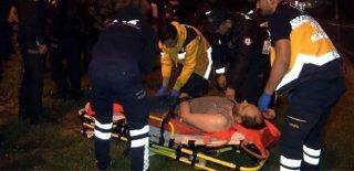 Çevreye Zarar Verip Polise Saldıran Bıçaklı Saldırgan Vuruldu!