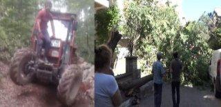 Traktörüyle Baraja Uçan Kişi Hayatını Kaybetti