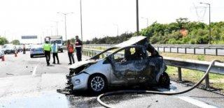 Çorlu'da TIR'ın Çarptığı Otomobil Yandı: 5 Kişi Hayatını Kaybetti