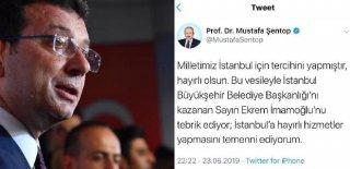 TBMM Başkanı Şentop'tan İmamoğlu'na Tebrik...