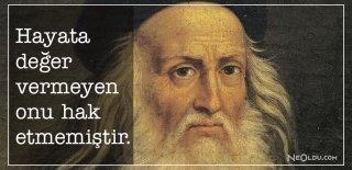 Leonardo da Vinci Sözleri, Eserleri - Leonardo da Vinci Eserlerinden Romantik, Etkileyici ve Özlü Sözler