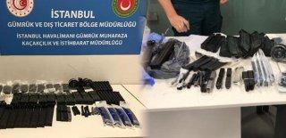 Valiz Değil Silah Dükkanı! İstanbul Havalimanı'nda Cephanelik Ele Geçirildi!
