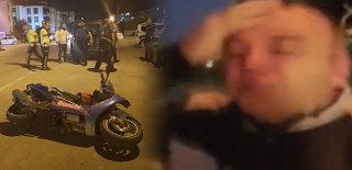 Motosiklet Kazasından Yara Almadı, Ön Araçtakilerle Tartışmada Yaralandı! Kemerle Dayak Anı Kamerada!