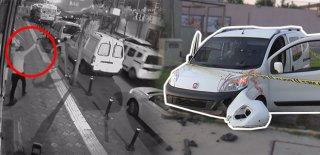 Film Sahnesi Gibi Sokak Ortasında Çatıştılar, Kaza Yaptılar, Kaçtılar!