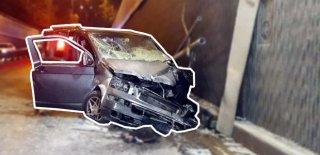 Minibüs Üst Geçitten Yola Düştü: 1'i Ağır, 3 Yaralı!