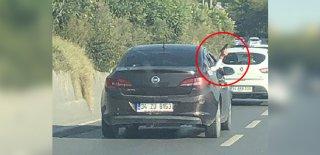 Trafikte Camdan Silah Çıkarttı! Bağcılar'da Akılalmaz Görüntüler!