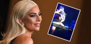 Lady Gaga Hayranının Kucağında Dans Ederken Sahneden Düştü! Flaş Görüntüler…