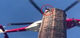 88 Metre Yüksekte Asılı Kaldı, Kurtarılana Kadar Hayatını Kaybetti!