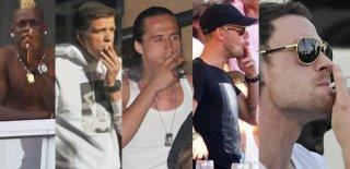 Sigara Batağına Düşmüş Futbolcular