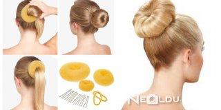 Donut Topuz Saç Modeli - 2 Dakikadan Kısa Sürede Donut Topuz Saç Nasıl Yapılır?