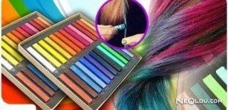 Saç Tebeşiri ile Saçlar Renkleniyor