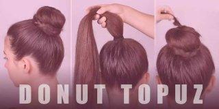 2 Dakikadan Kısa Sürede Donut Topuz Saç Nasıl Yapılır?