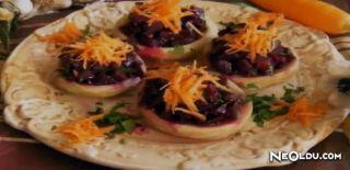 Enginar Çanağında Pancar Salatası Tarifi