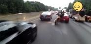 Korkunç Motor Kazası Kamerada