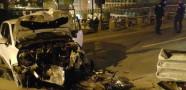 İstanbul Şişli'de Hurdaya Dönen Araçta Burnu Bile Kanamadı