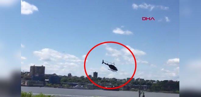 Kameralar Önünde Helikopter Böyle Çakıldı!